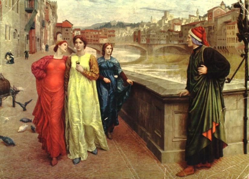 Dante e Beatriz, de Henry Holiday